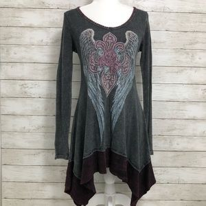 Vocal Long Sleeve Tunic/Dress Size Small